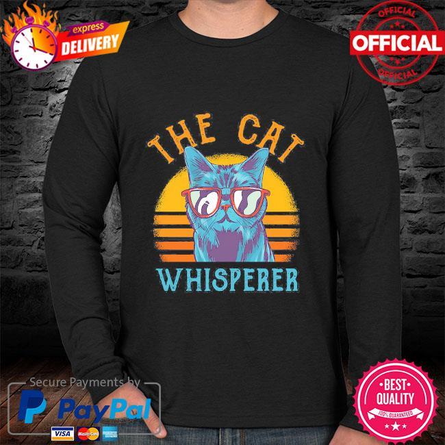 The Cat whisperer vintage sweater black
