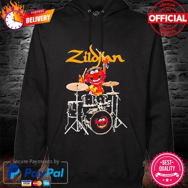The muppet show animal playing avedis zildjian hoodie black