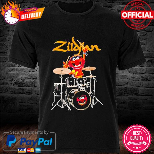 The muppet show animal playing avedis zildjian shirt
