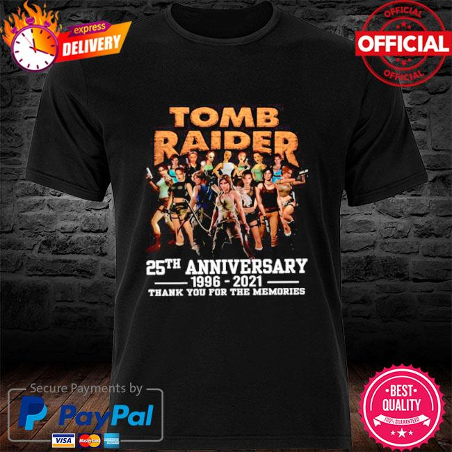 The tomb raider 25th anniversary 1996 2021 thank you for the memories shirt