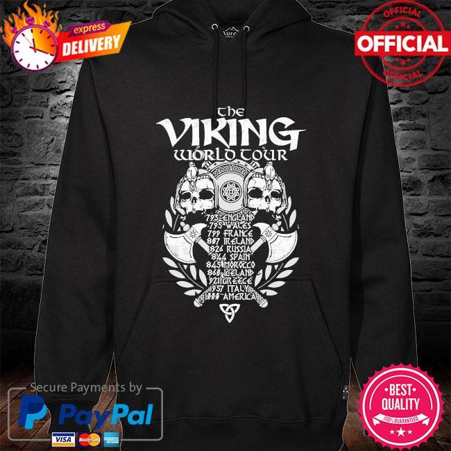 The Viking world Tour s hoodie black
