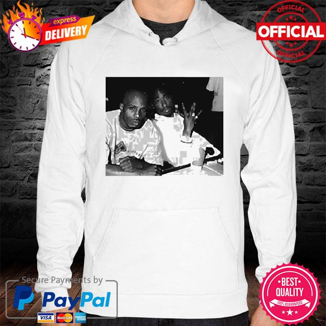 Tupac and dmx photo hoodie white