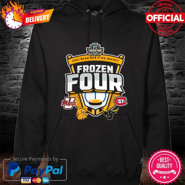 Umass minutemen vs st cloud state 2021 ncaa men's ice hockey frozen four s hoodie black