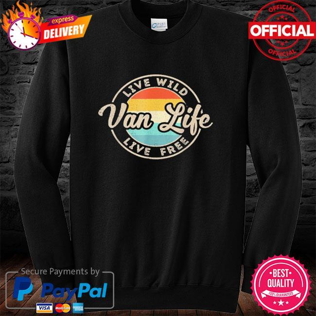 Van life clothing retro vintage van dwellers vanlife nomads long sleeve black