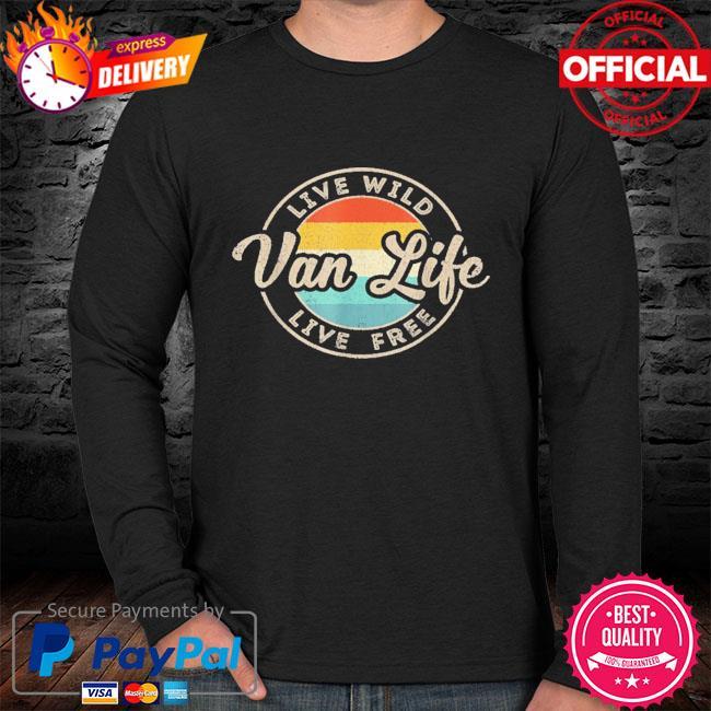 Van life clothing retro vintage van dwellers vanlife nomads sweater black