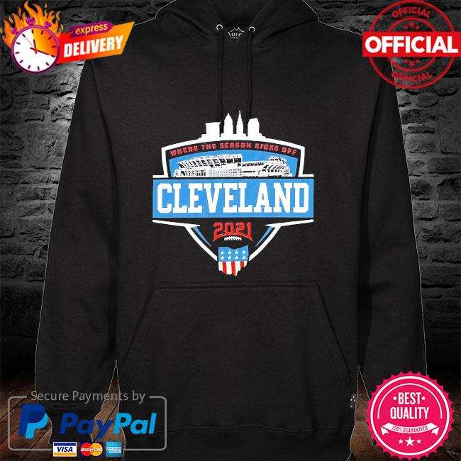 Where the season kicks off Cleveland hoodie black