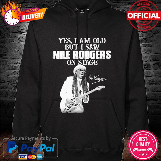 Yes I am old but I saw Rodgers on stage signatures hoodie black