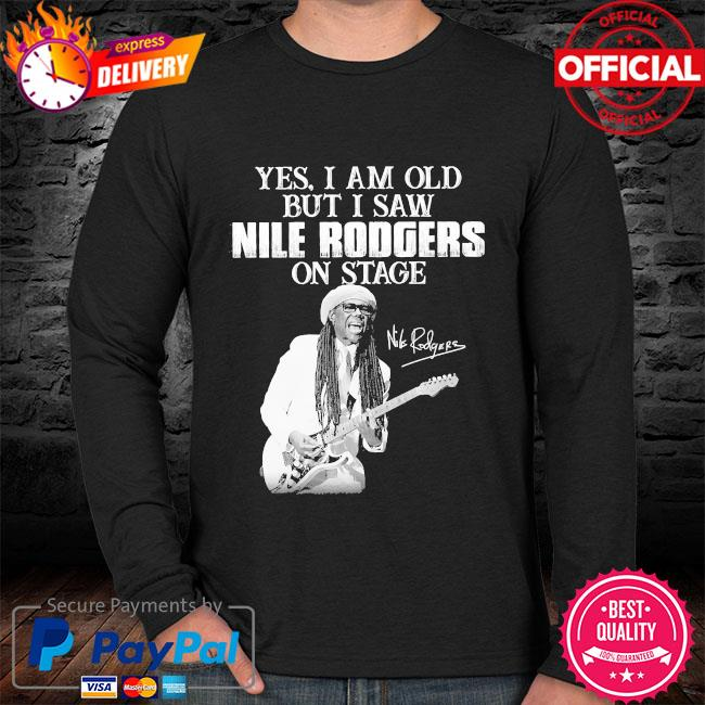 Yes I am old but I saw Rodgers on stage signatures sweater black