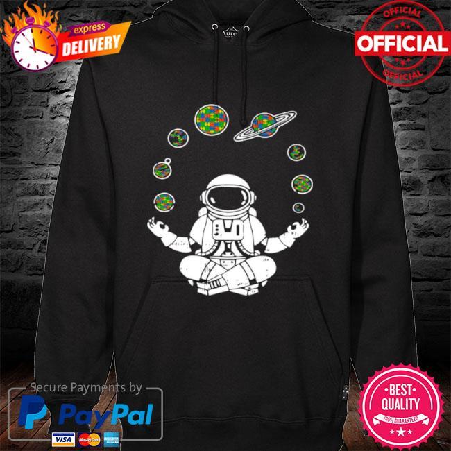 Yoga astronaut space planets s hoodie black