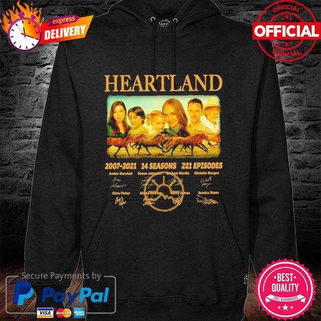 14 years of heartland 2007-2021 14 seasons 221 episodes signed s hoodie black