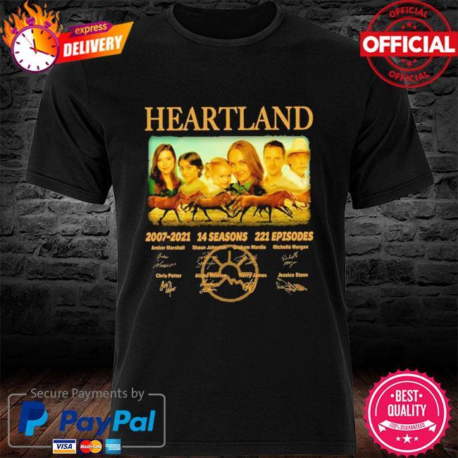14 years of heartland 2007-2021 14 seasons 221 episodes signed shirt