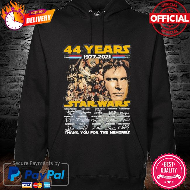 44 years of Star Wars Thank you for the memories signatures s hoodie black