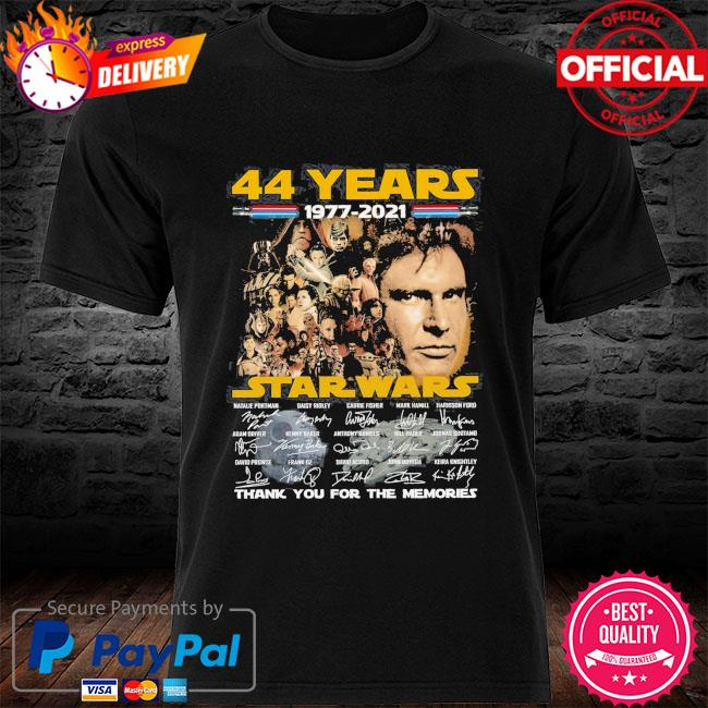 44 years of Star Wars Thank you for the memories signatures shirt