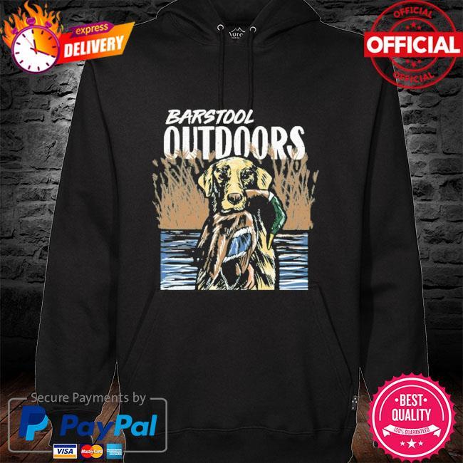 Barstool outdoors duck hunt pocket hoodie black