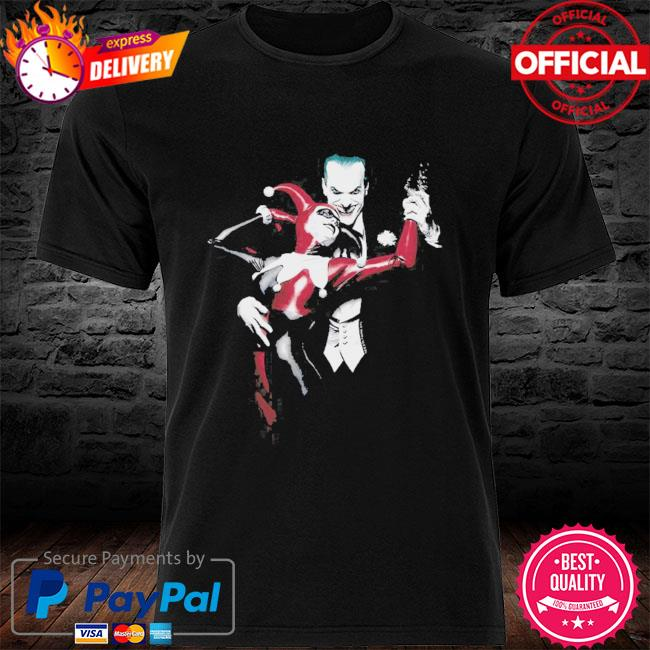 Batman - Harley And Joker Premium Canvas Adult Slim shirt