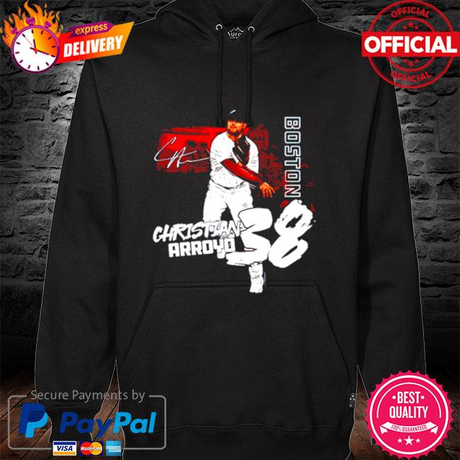 Boston Baseball Christian Arroyo 38 signature hoodie black