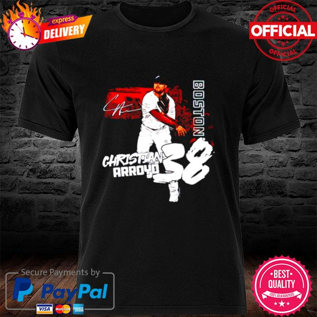 Boston Baseball Christian Arroyo 38 signature shirt
