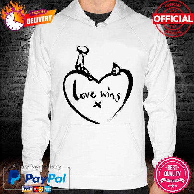 Charlie mackesy love wins 2021 t-s hoodie white
