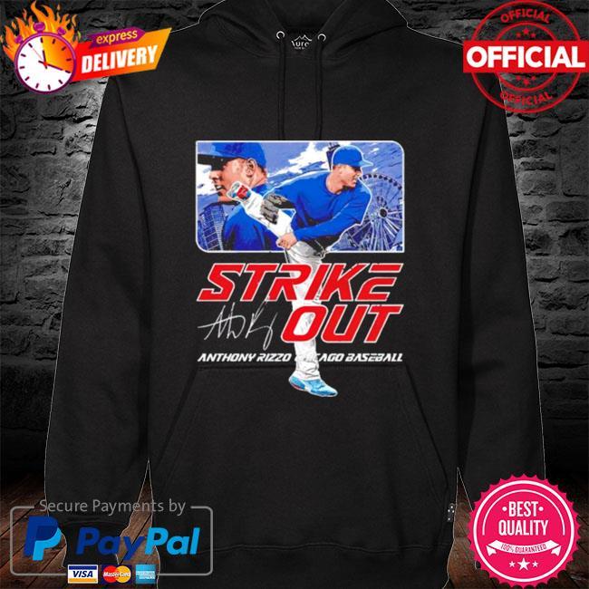 Chicago Baseball Anthony Rizzo Strikeout signature hoodie black