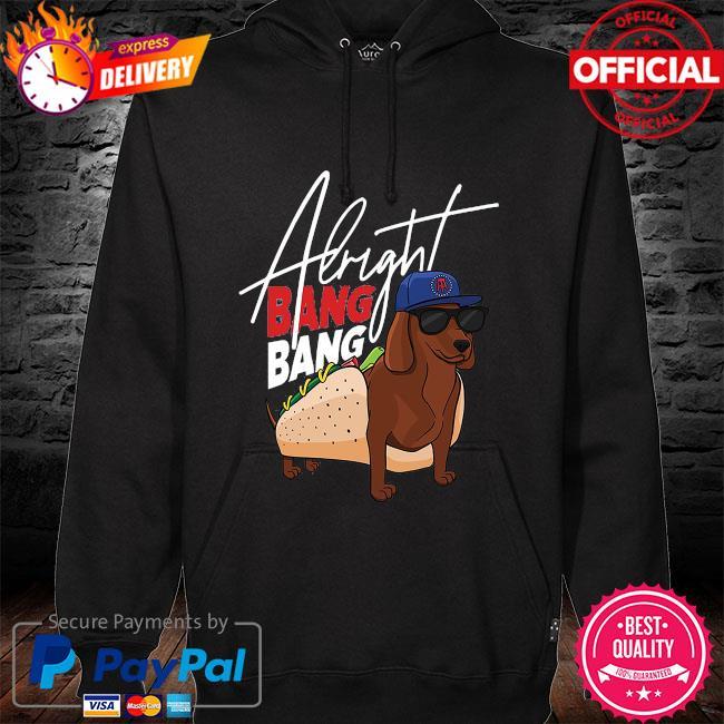 Dog walk pocket albright bang bang hoodie black