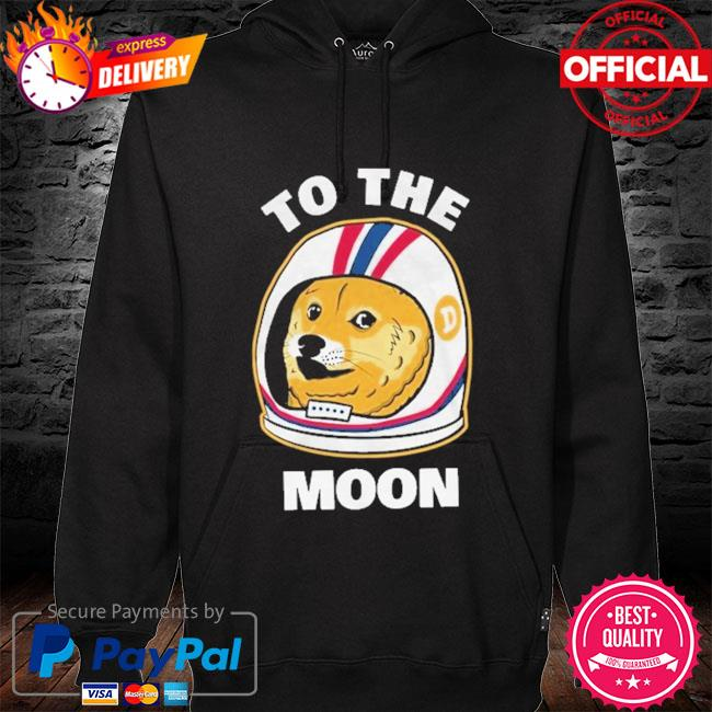 Dogecoin To the moon hoodie black