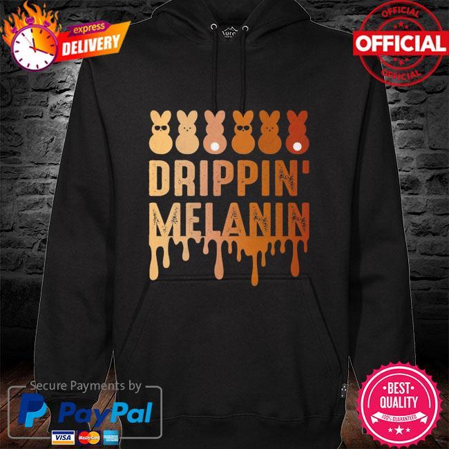 Drippin Melanin s hoodie black