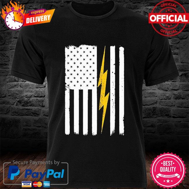 electrician American flag shirt