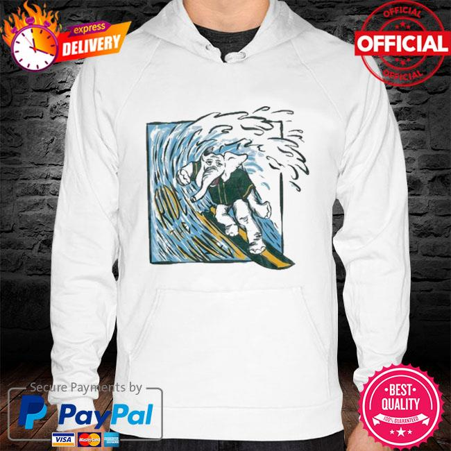 Elephant ride the wave hoodie white