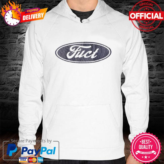 Fuct ssdd f oval logo s hoodie white