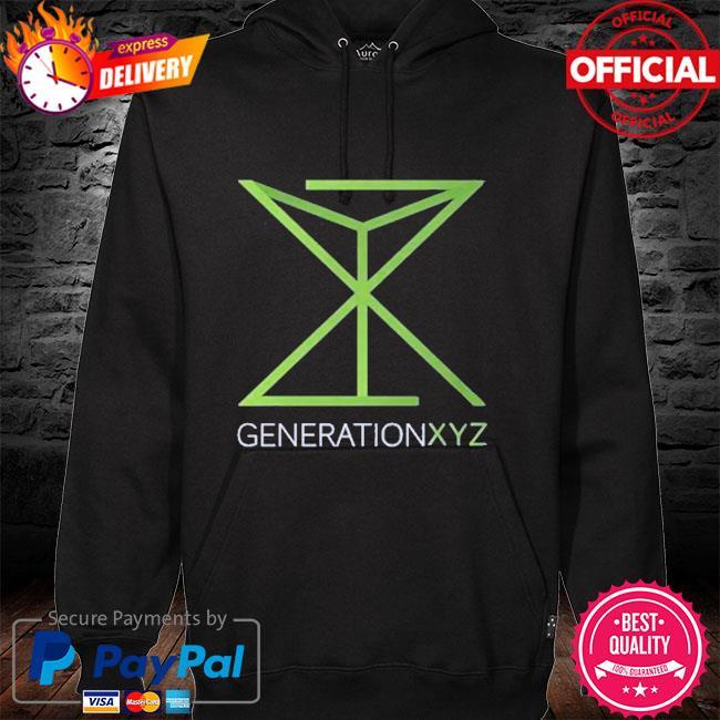 Generation xyz hoodie black