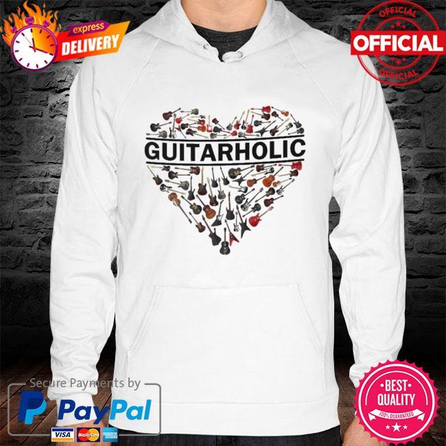 Heart Guitarholic s hoodie white