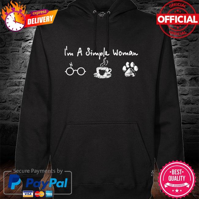 I'm a simple woman I like harry potter coffee and dog s hoodie black