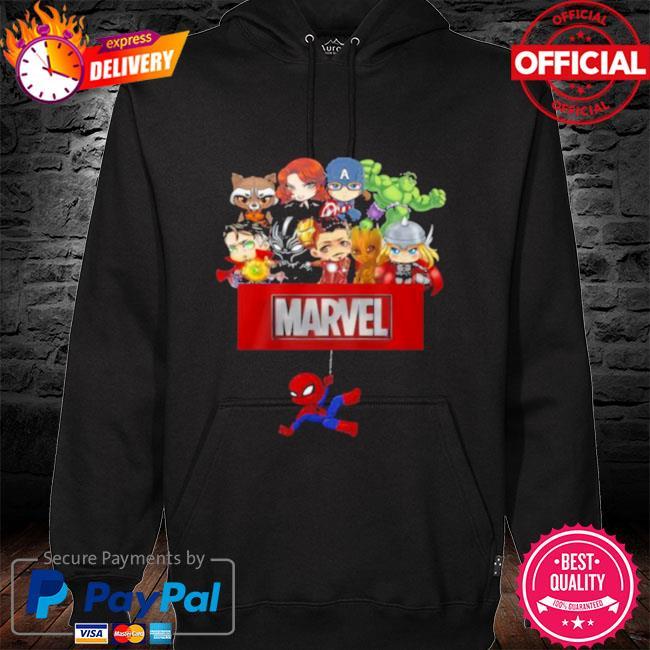 Marvel Hero Spider Man Avengers Shirt hoodie black