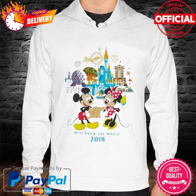 Minnie and mickey mouse walt disney world s hoodie white