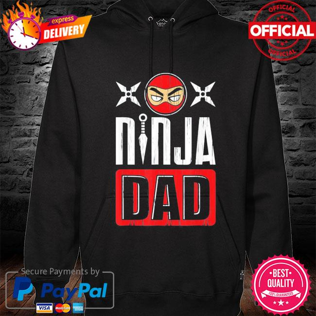 Ninja dad father's day s hoodie black