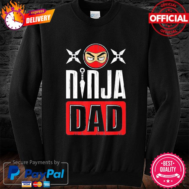 Ninja dad father's day s long sleeve black