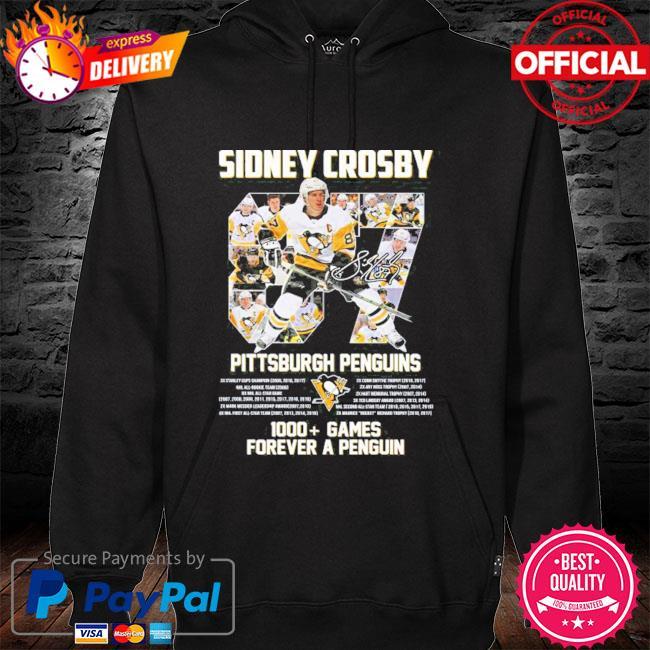 Original 87 sidney crosby Pittsburgh penguins 1000 games forever a penguins s hoodie black