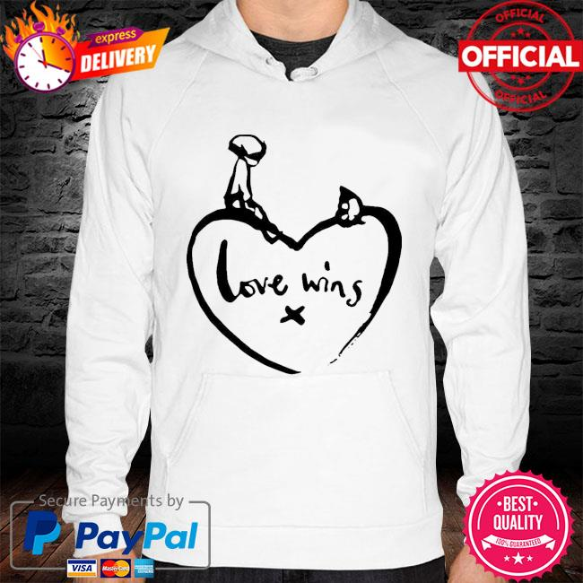 Original love wins shirt comic relief s hoodie white