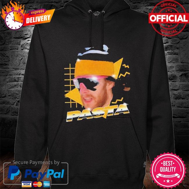 Pasta man hoodie black