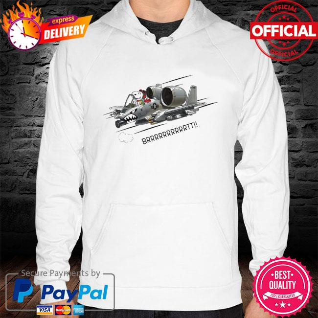 Pilot Snoopy driving plane brrr s hoodie white