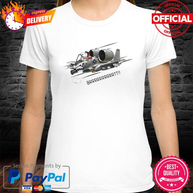 Pilot Snoopy driving plane brrr shirt