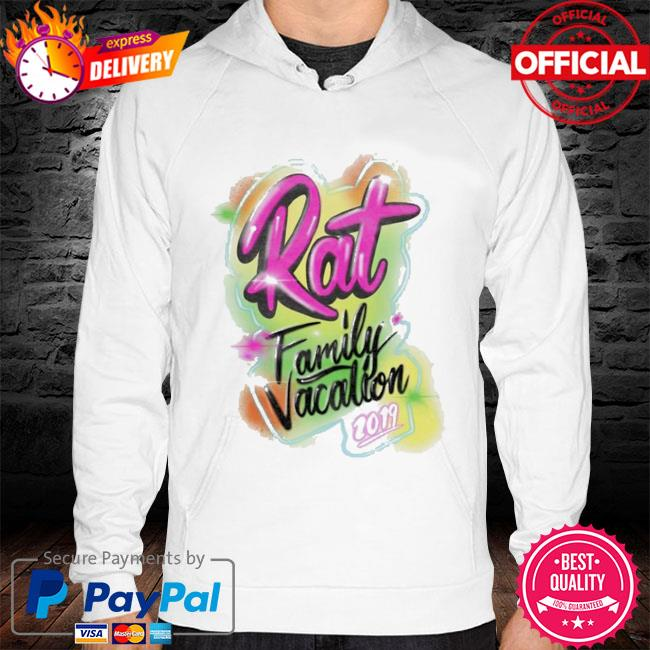 Rat family vacation hoodie white