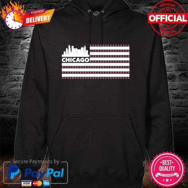 Red line radio flag chicago hoodie black