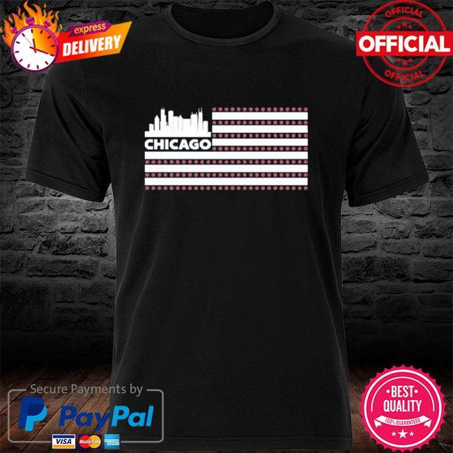Red line radio flag chicago shirt