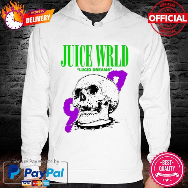 Rip juice wrld lucid dreams 999 skull s hoodie white