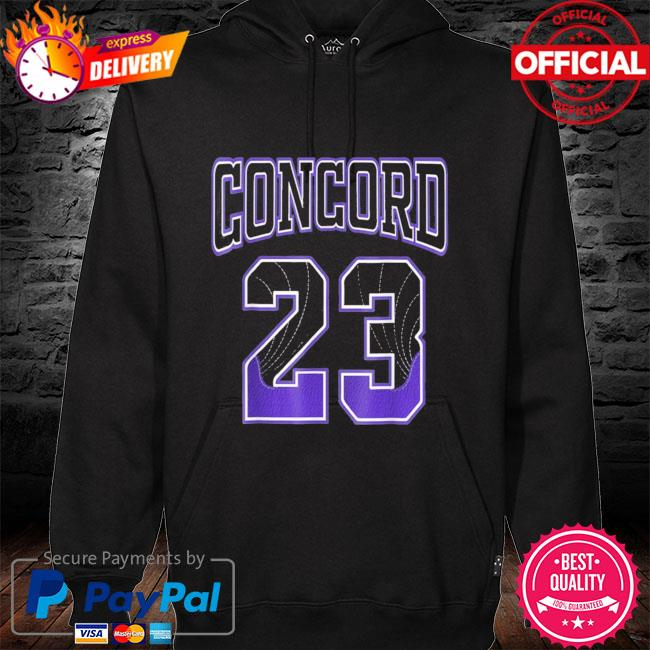 Simple 23 made to match with jordan 12 dark concord s hoodie black