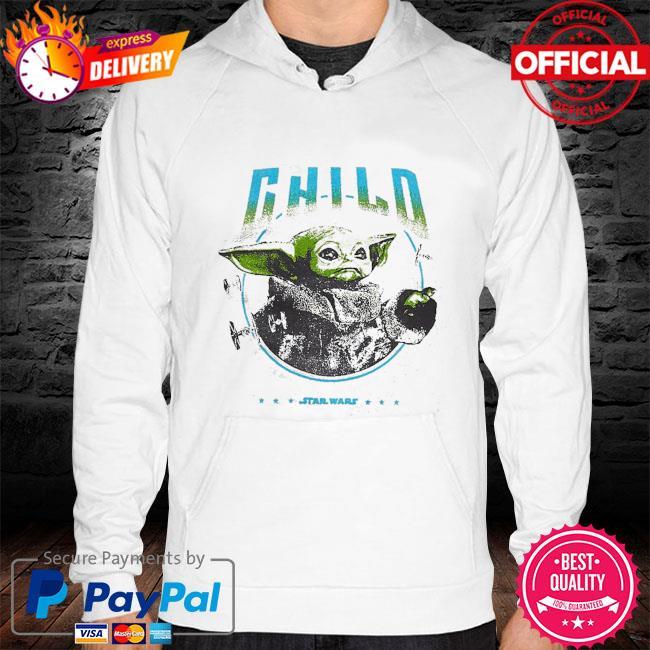 Star Wars Baby Yoda The Mandalorian The Child Metal hoodie white