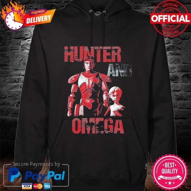 Star Wars The Bad Batch Hunter And Omega hoodie black
