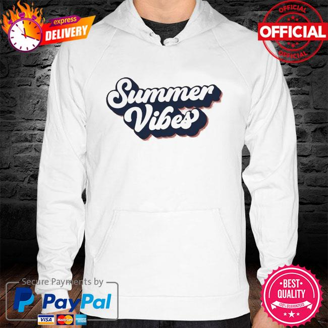 Summer Vibes hoodie white