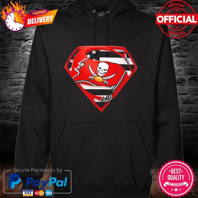 Superman tampa bay buccaneers champions super bowl liv American flag s hoodie black